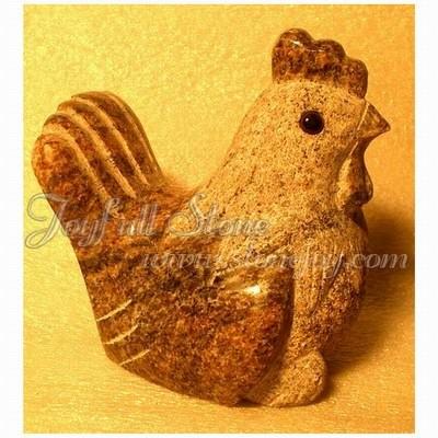 KR-001-Rooster, Granite rooster crafts