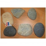 Dragonfly pebbles engraved river stone ornaments