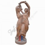 KLE-650, Carved red marble statues