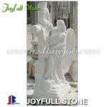 Custom white marble angel statue