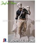 Custom white marble statues