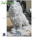 Custom granite lion sculptures