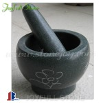 Granite material mortar and pestle