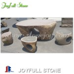 Boulder stone table set