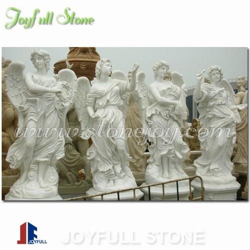 KLB-026-1, white marble angel statue