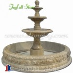GFP-213 Brown marble pedestal fountains