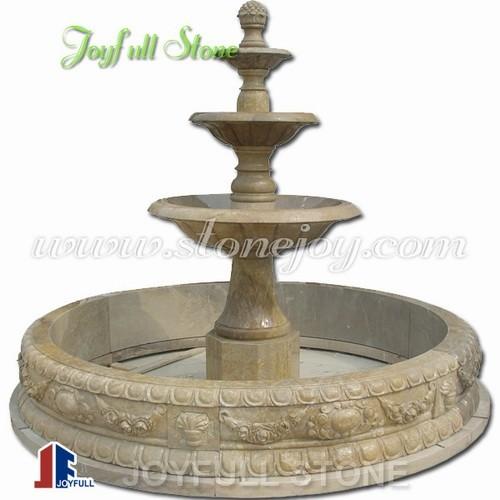 GFP-213 Brown marble pedestal fountains