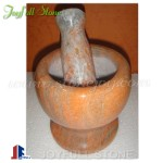 Natural stone mortar and pestles