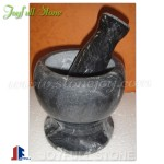 Black marble mortar and pestle