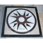 DP-141,Water jet marble floor medallion