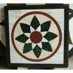 020, Rectangle marble floor medallions patterns
