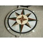 014, Mixed Marble Compass Mosaic Medallion