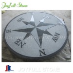Garden decorative granite compass