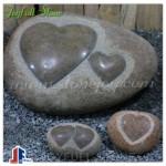 River stone hearts