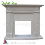 FG-044, White Marble Fireplace