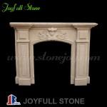 FM-011, Indoor Sandstone Fireplace Mantel for sales