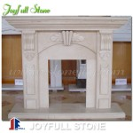 FM-014, Modern Style Small Size White Marble Fireplace