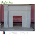 FM-015, Cheap White Marble Mantel Surround for Indoor