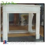 FM-030, Modern White Stone Fireplace Surrounds