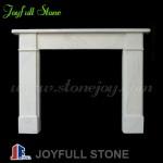 FM-205, Decorative White Stone Fireplace Frame