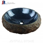 Granite basalt look stone basins sinks