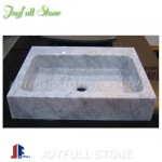 SI-606 Rectangular square white marble sinks