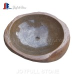 GW-101 Natural river rock bathroom sinks