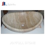 SI-308-1 Oval round travertine stone basins for kitchen
