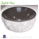SI-167, Black stone granite round sinks for bathroom
