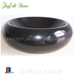 SI-166, black stone round bathroom sinks basins