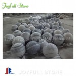Grey and white marble spheres marble balls