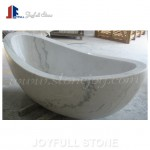 Grey and white marble bathtub