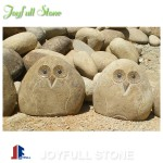 Wholesale cobble stone owls ornaments