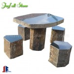 Basalt stone bench table set furnitures