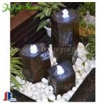 Basalt water pillar fountains