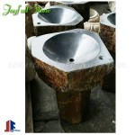 Basalt hand basins sinks with pedestal