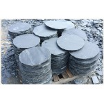 Rust and black slate stepping stones