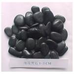 Polished Black stone pebbles for landscaping