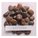 Red stone pebbles for landscaping