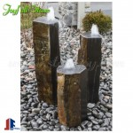 Outdoor garden basalt column stone fountains