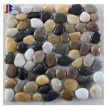 Decorative mixed colour pebble tiles