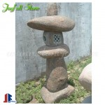 Basalt stone lanterns for garden and landscaping