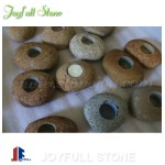 River cobble stone candle sticks wholesale