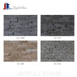 Stacked quartz stone veneer wall cladding