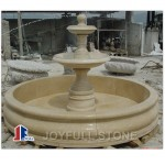 Garden Outdoor Simple modern beige marble fountain