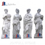 Outdoor marble four seasons statue for garden