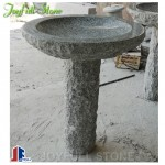 Stone bird bath for garden patio and yard
