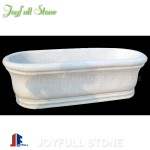 Simple modern design white marble tubs