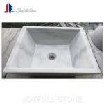 Hunan White Marble hand vessel sinks for bathroom
