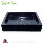 Absolute black granite stone hand basins for bathroom